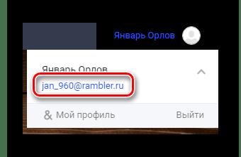 Dirección de correo electrónico postal exitosa en el sitio web oficial del servicio Rambler Post