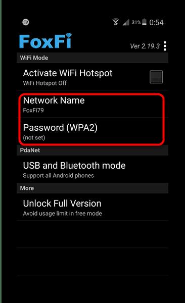 Ұялы телефонды Wi-Fi кіру нүктесі ретінде пайдалану