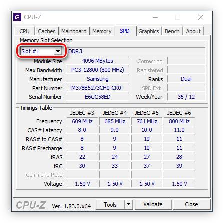 Unità di selezione dello slot di memoria in CPU Z