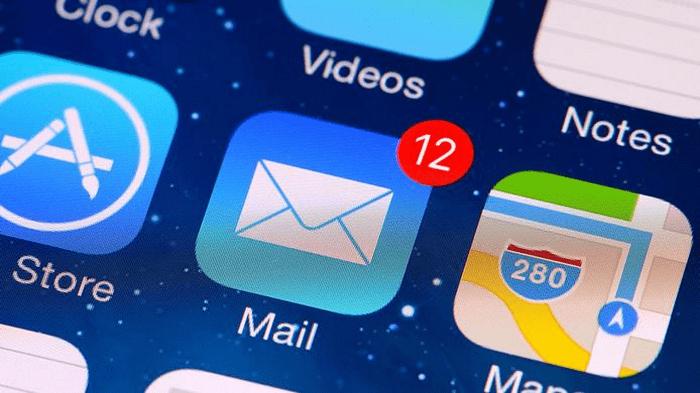 ICloud электрондық поштасы Стандартты iOS қосымшасы арқылы кіру