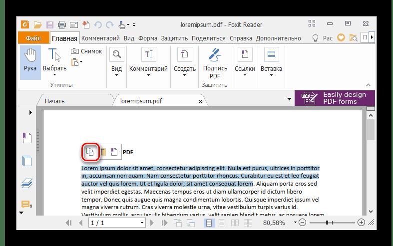 Foxit Reader에서 텍스트를 선택하고 복사합니다