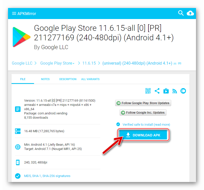 Google Play Market Mulai Unduh File APK dari APKMirror Resource