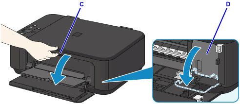 Canon Yazıcı Kağıt Resepsiyon Tepsisini Açın