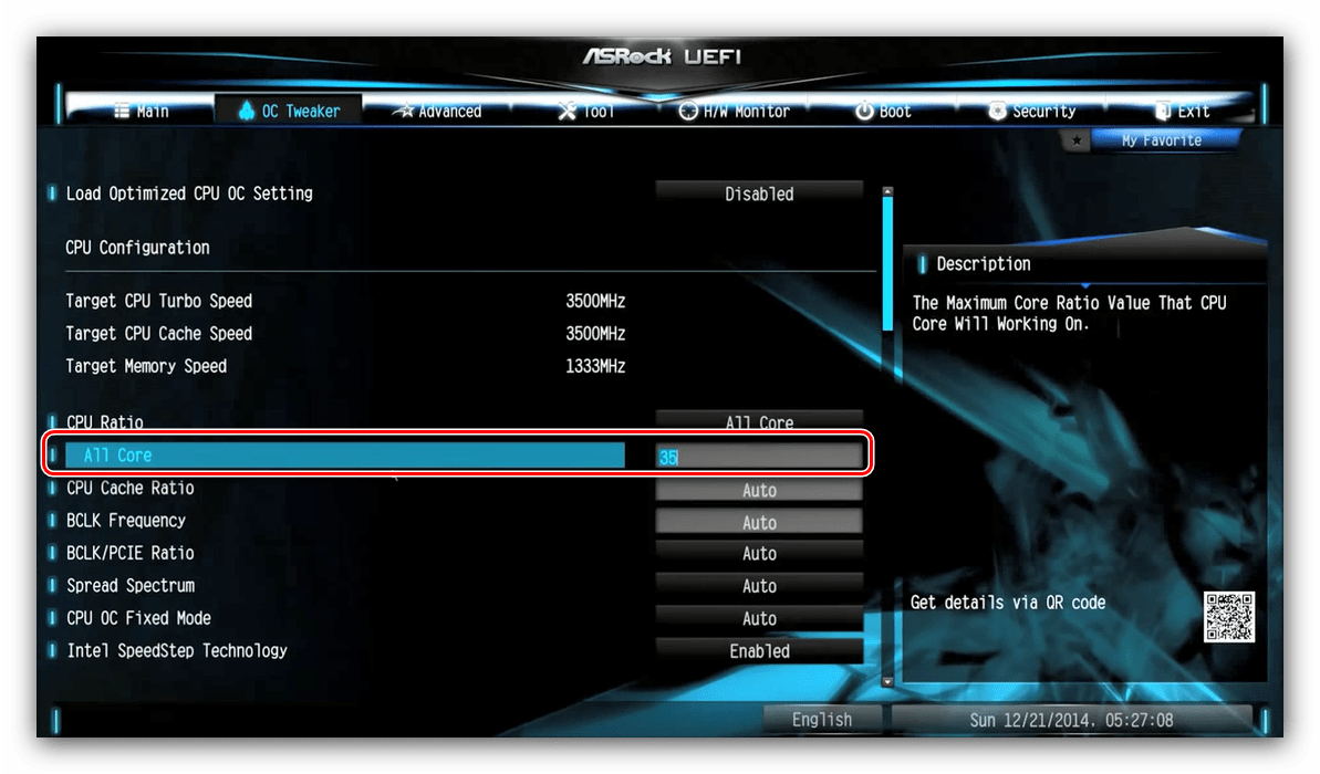 Setting Multiplier di ASRock BIOS untuk CPU Overclocking
