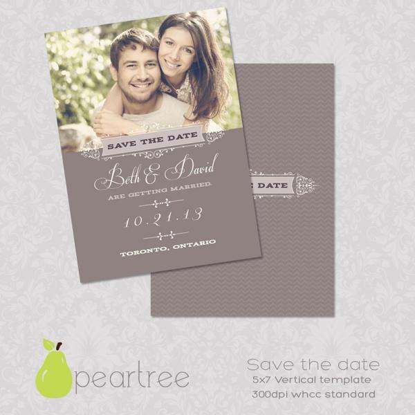 Vertical Save Date Postcards