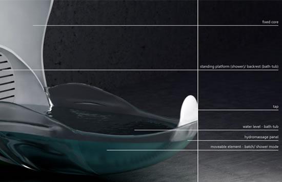 Futuristic Tulip Bath Cum Shower Concept For A Minimalist