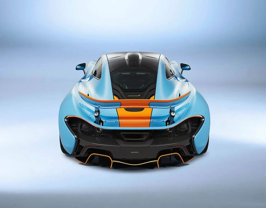 One Off Mclaren P1 With Classic Gulf Oil Racing Livery Is