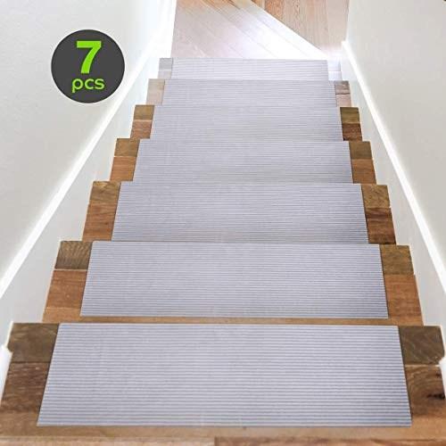 Top 11 Best Stair Treads 2020 Toolzview | Modern Carpet Stair Treads | Beige Carpet | Wood | Basement Stairs | Grey | Modern Trellis