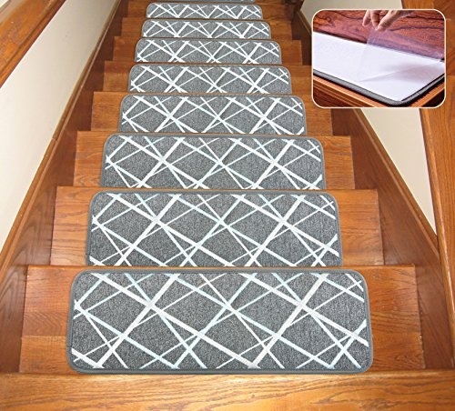 Top 11 Best Stair Treads 2020 Toolzview | 30 Inch Carpet Stair Treads | Sided Tape | Bullnose Wraparound | Machine Washable | Greek Key | Non Skid