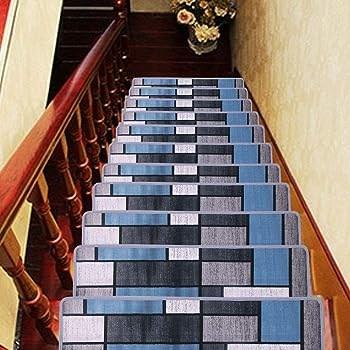 Explore Carpet Tiles For Stairs Amazon Com | Carpet Squares For Stairs | Diy | Right Price Carpet | Hallway | Interior Modern | Stair Carpet Installation