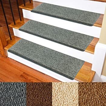Carpet Stair Treads – Non Slip Bullnose Carpet For Stairs – Indoor | Carpet And Hardwood Stairs | Wooden | Before And After | Wall To Wall Carpet | Grey | Design