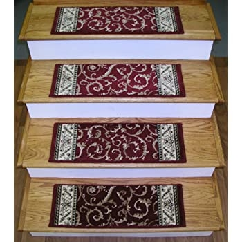 Amazon Com Rug Depot 159531 Traditional Oriental Non Slip Carpet   Oriental Carpet Stair Treads   Kings Court   Stair Runner   Carpet Runners   Rug Depot   Flooring