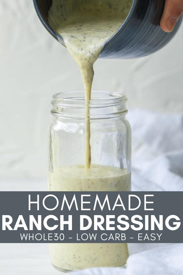 Image for pinning Homemade Ranch Dressing recipe on Pinterest