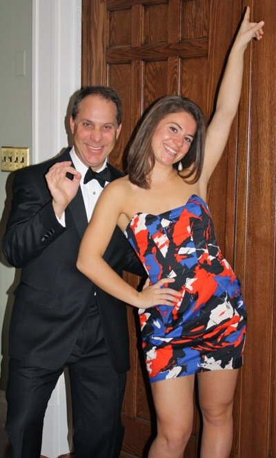 Photo from 2011 of me and my dad dressed up for the father daughter dance at my high school