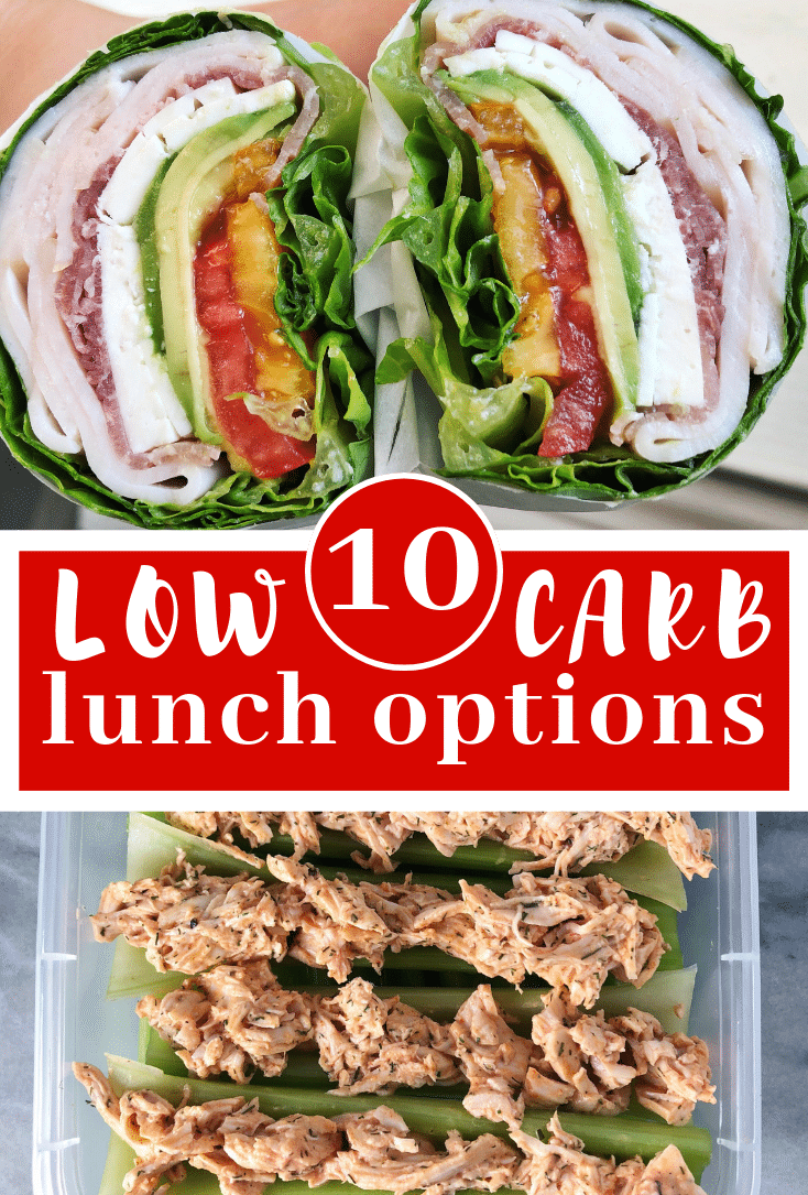 Image for pining 10 low carb lunch options post on pinterest