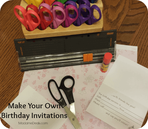 Print Your Own Birthday Invitations