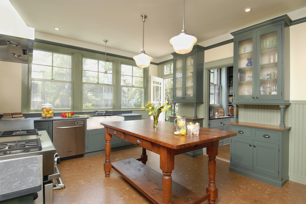 Good Looking Schoolhouse Lighting In Kitchen Traditional