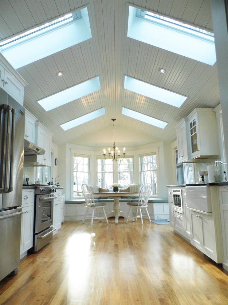 Inspired Breakfast Nook Bench In Kitchen Traditional With
