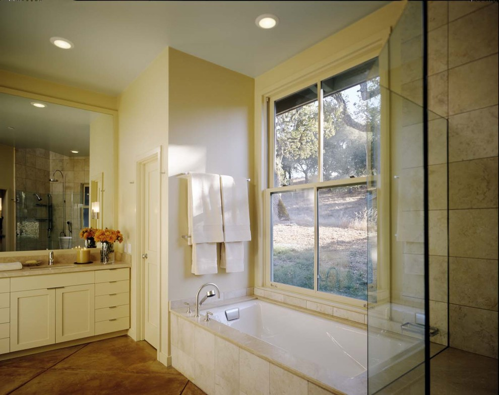 Pretty Kohler Tub In Bathroom Eclectic With No Grout
