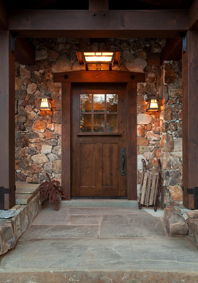 Farmhouse Front Door Entry Contemporary With Porch Light