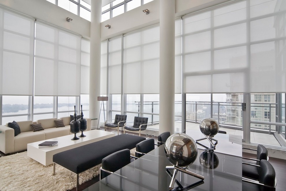 Window Covering Ideas Living Room Beach Style With