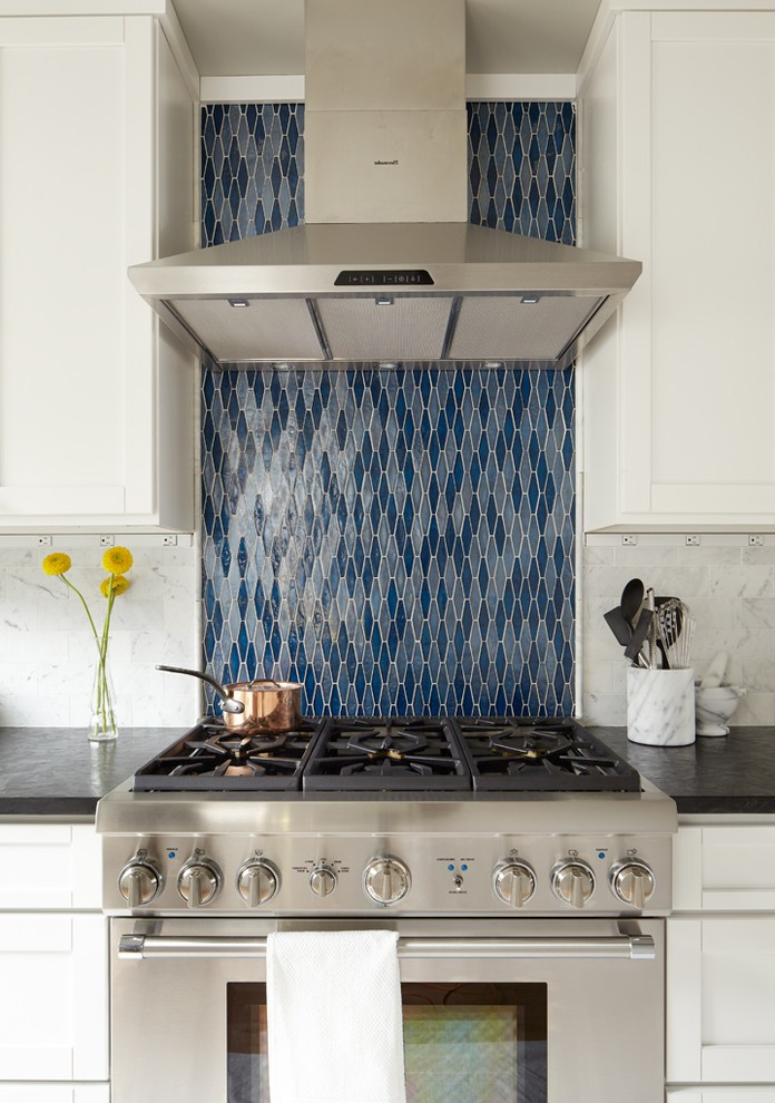 Astonishing Ann Sacks Glass Tile Backsplash With Galley