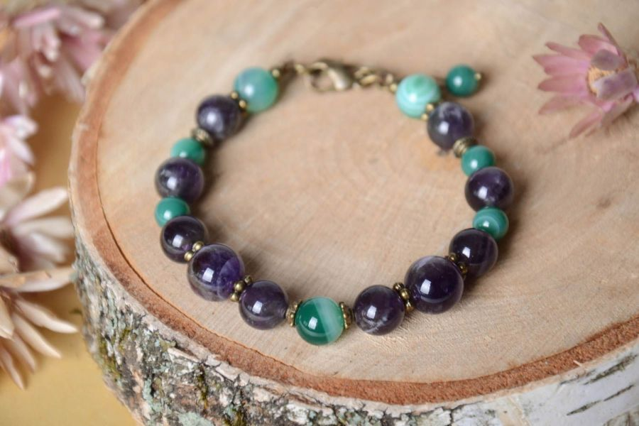 MADEHEART   Stylish handmade stone bracelet designs fashion trends     gemstone bracelets Stylish handmade stone bracelet designs fashion trends  accessories for girls   MADEheart com
