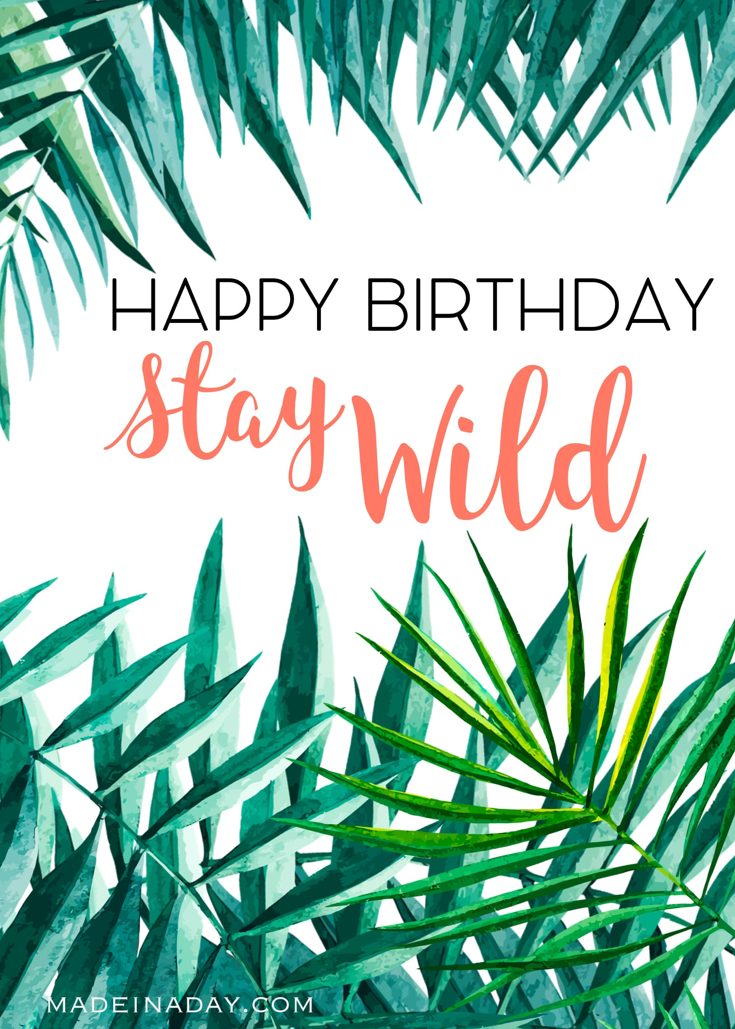 Birthday Card Happy Printables