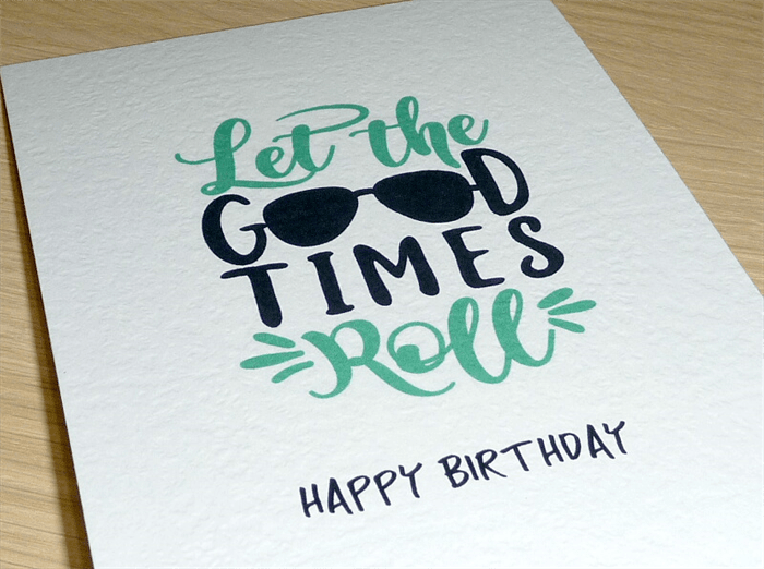 Image of: Friend Male Happy Birthday Card Let The Good Times Roll Vicki Madeitcomau Madeit Male Happy Birthday Card Let The Good Times Roll Vicki