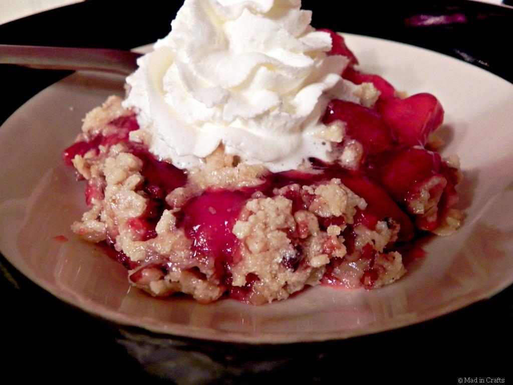 Holiday Dessert:  Cherry-Strawberry Crumble