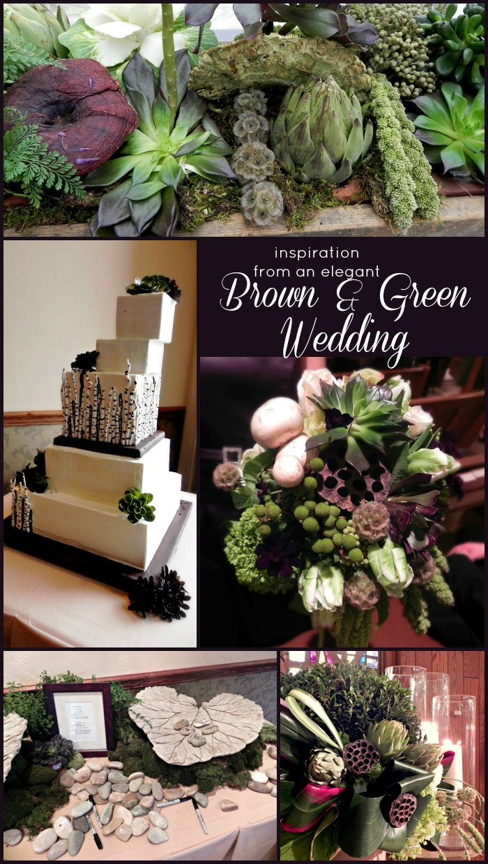 Inspiration from an Elegant Brown and Green Wedding