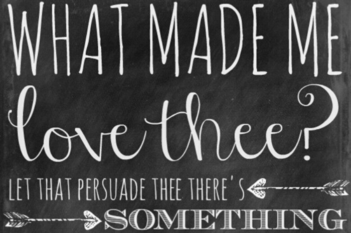 Printable Chalkboard Shakespeare Quotes for Valentine's Day