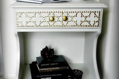 Designer-Inspired Nailhead Table for $6