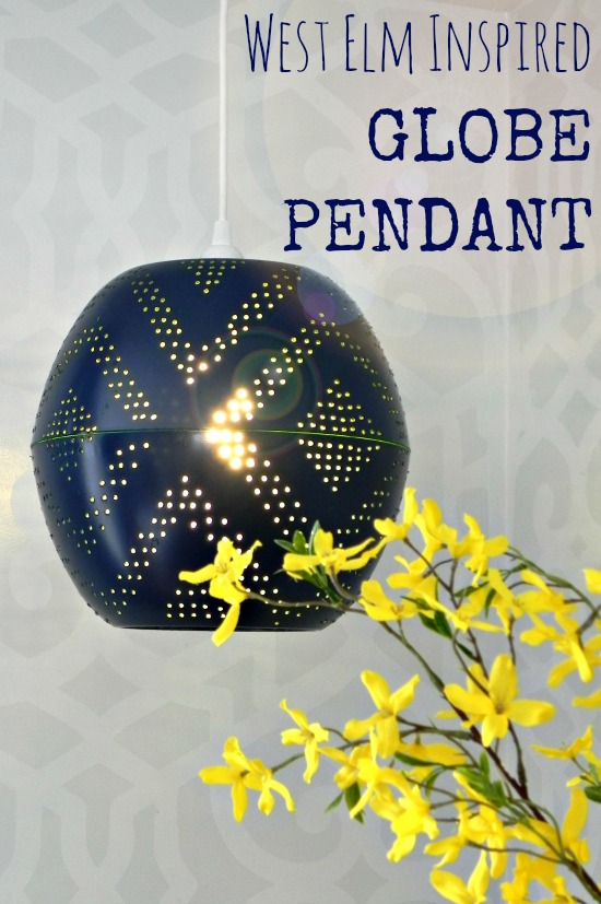 West Elm Inspired Perforated Globe Pendant Lamp