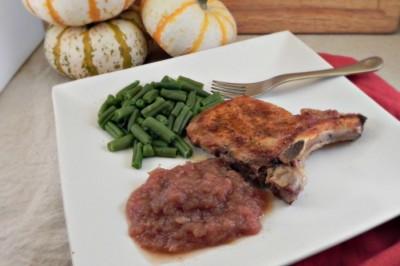Homemade Pork Chops and Applesauce