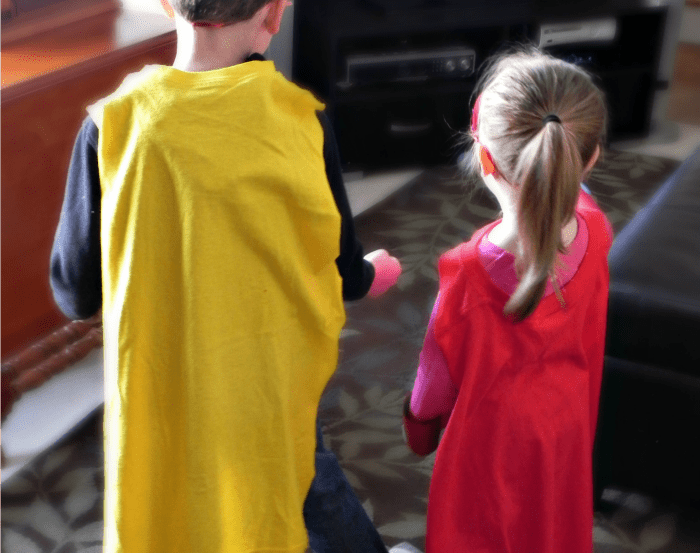 Easy T-Shirt Superhero Capes