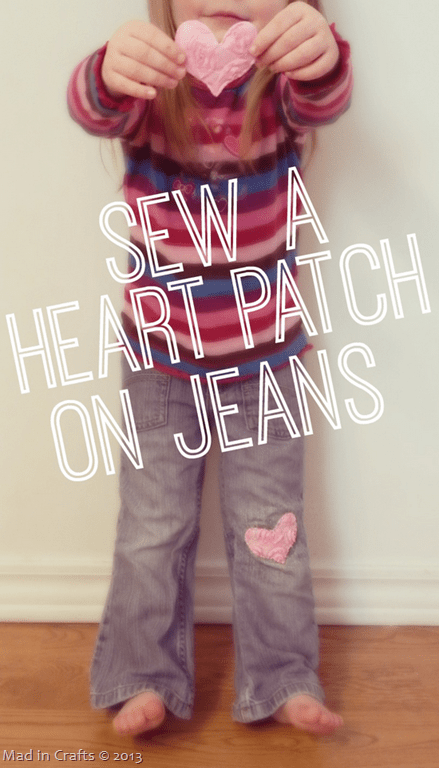 Sew a Heart Patch on Jeans