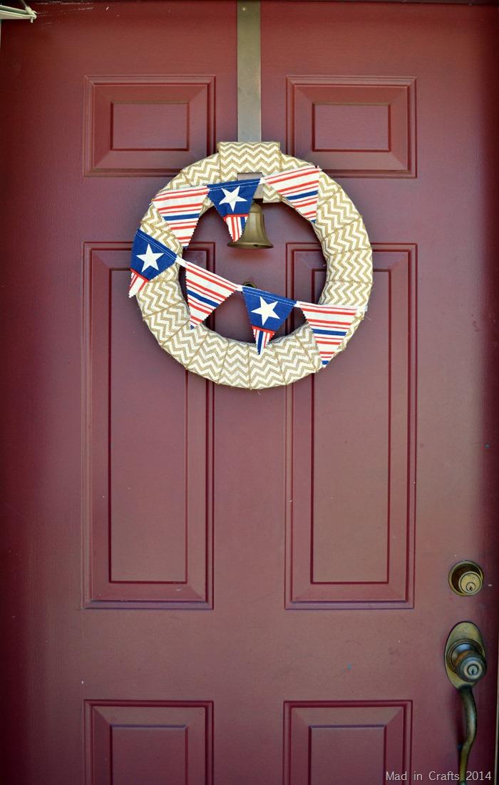 Quick Patriotic Front Door Wreath