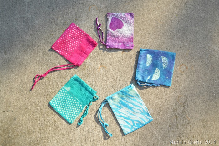 Dyed and Bleached Bags