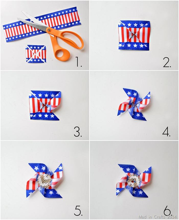 Make a Patriotic Pinwheel Pin