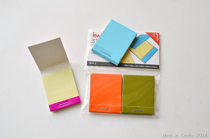 Matchbook Sticky Notepads