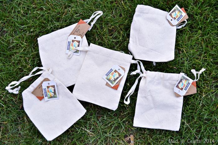 Small canvas drawstring bags