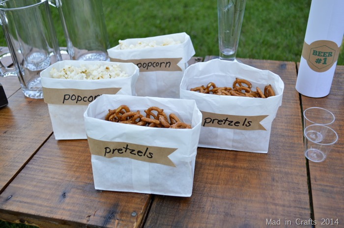 Beer Party Snack Labels