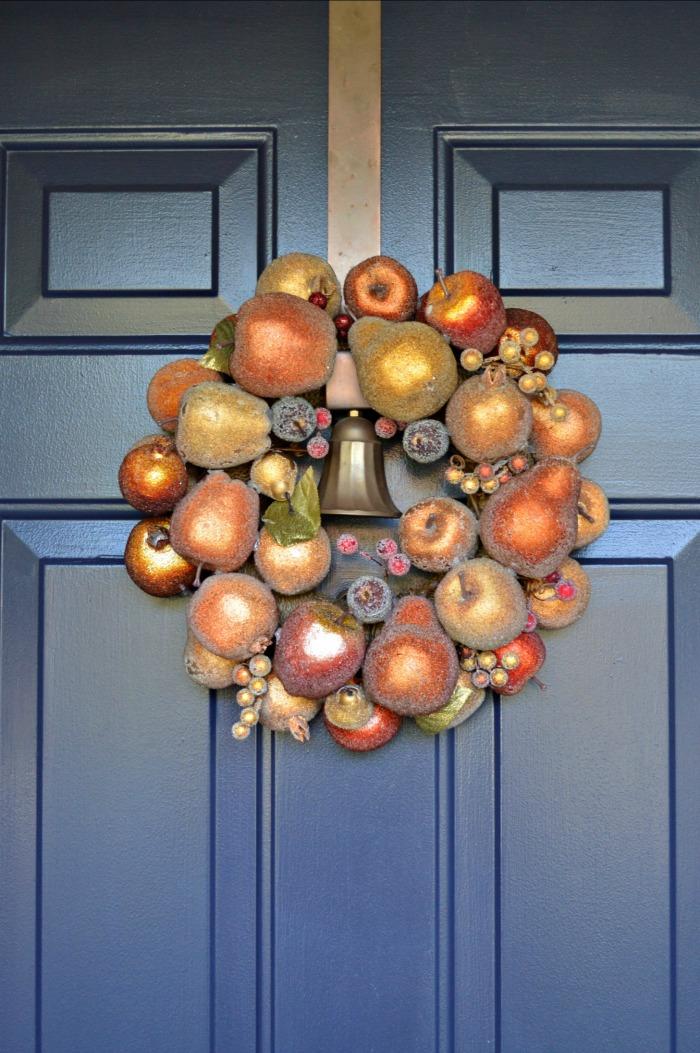 Fall Wreath Fall Wreath on Door