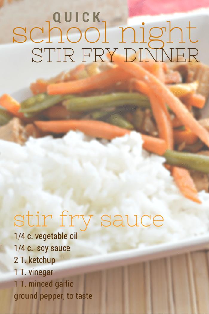 Quick School Night Stir Fry Dinner