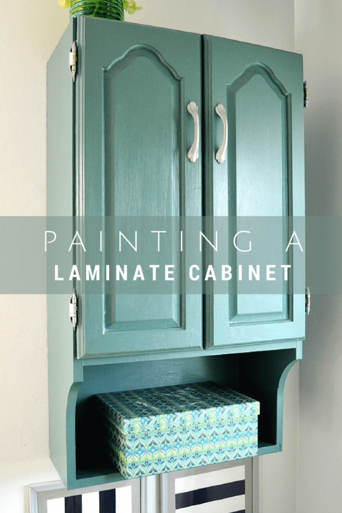 Painting a Laminate Cabinet