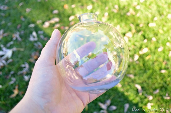 clear plastic ornament