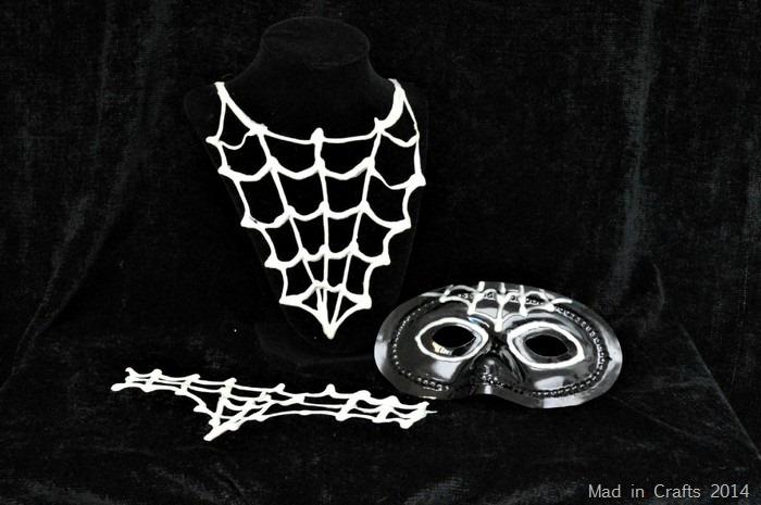 Halloween diy spider costume accessories
