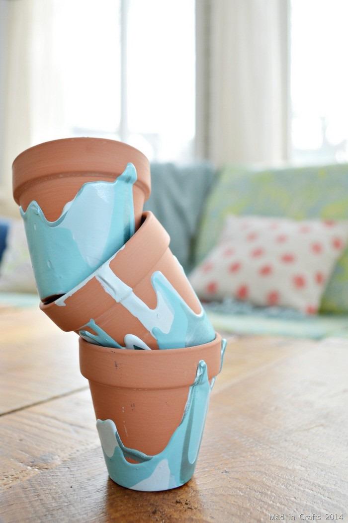 Ombre Drip Pots