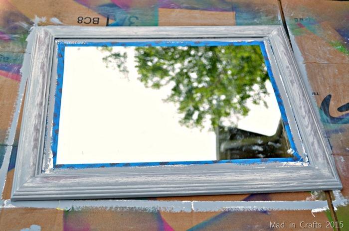 Mirror Update Chalk paint distressing ForRent.com